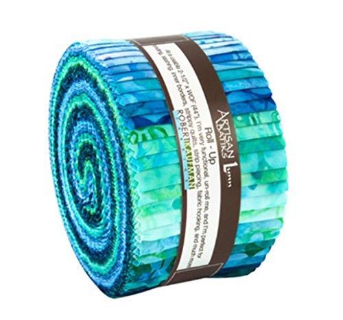 Lunn Studios Artisan Batiks Gazebo Roll up 40 2.5-inch Strips Jelly Roll Robert Kaufman Fabrics RU-741-40 by Robert Kaufman Fabrics