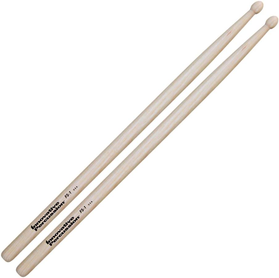 Innovative Percussion FS1 Marching Snare Field Series Standard Wood Tip Drumsticks