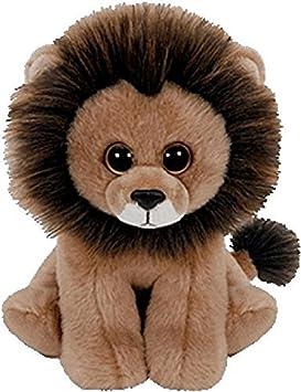 Ty - Classics Louie, león de Peluche, 23 cm, Color marrón (90220TY