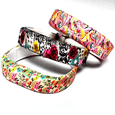 DDup Replacement Soft Wristbands Set for Fitbit Flex Tracker Only, with Colorful Clasps and Secure Fastener Sleeves