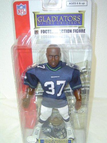 Gladiators of the Gridiron NFL - Seattle Seahawks Action Figure in Blue Jersey (Hawk Jersey Uniform)