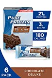 Pure Protein Bars, Gluten Free, Snack Bars, Chocolate Deluxe, 50 gram, 6 Count
