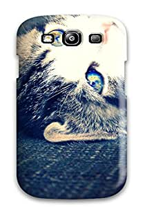 Shirley P. Penley's Shop Lovers Gifts 3228645K82485992 Galaxy S3 Hybrid Tpu Case Cover Silicon Bumper Cat With Bright Eyes