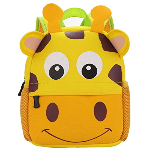 n Backpack ,Toddler Kid Kindergarten School Bags Shoulder Bookbags-Steplove (Yellow) (Eraser Memo Holder)