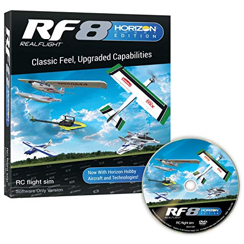 RealFlight RF8 Horizon Hobby Edition: RC Flight Simulator Software DVD Only (RFL1001)