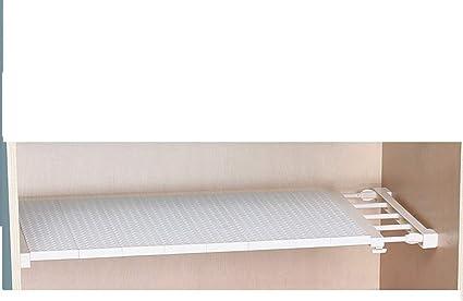 UCTOP STORE - Estante separador retráctil multifuncional de 38 a 55 cm para armario, cocina, baño, estantería extensible y ajustable, para caja de ...