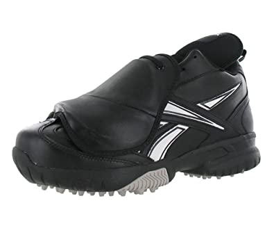 sale retailer 25c1b cfae9 Reebok Mens Field Magistrate II Pl Mid Baseball Plate Guard Umpire Turf Shoe  in Black and