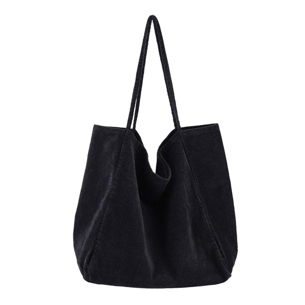 Black2 BOBILIKE Women Shoulder Bags Corduroy Crossbody Bag Handbag Purse Schoolbag