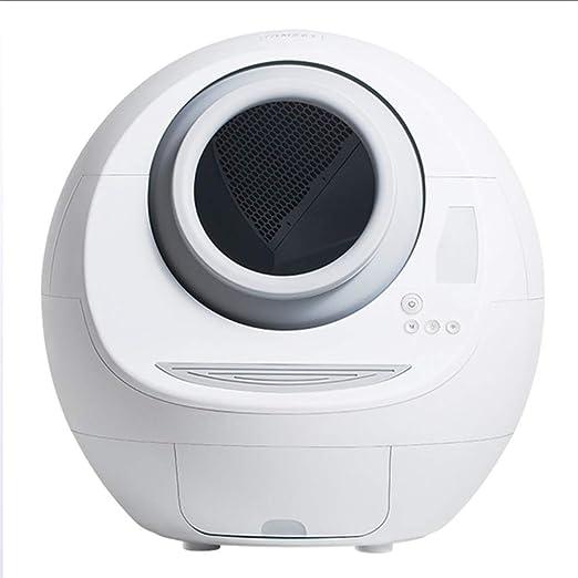 CWCSDK Mascota Robot Aseo Basura silenciosa Desodorante Gato Inteligente de la litera de Auto Limpieza de Cabina, Completamente Cerrado automático Desodorante Aseo luz de la Noche: Amazon.es: Productos para mascotas