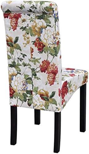 Xingshuoonline Lot de 2 chaises de Table en Bois avec Design Floral, chaises de Salle à Manger Design