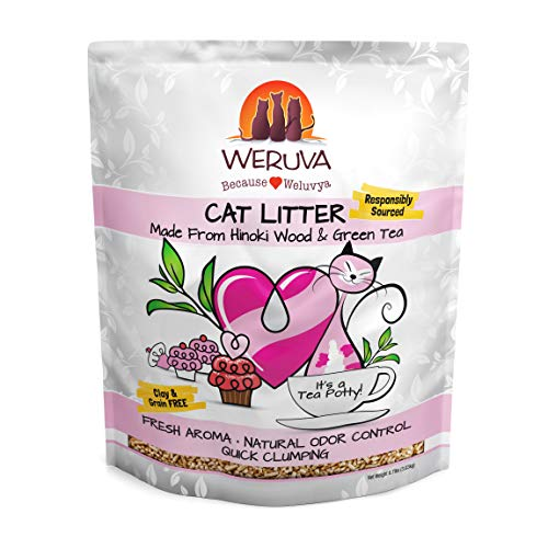 Weruva It's A Tea Potty! Hinoki Wood & Green Tea Natural Cat Litter, 6.7 lb Bag (Operation Hours Orange Leaf Of)