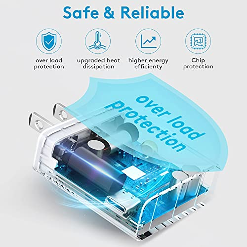 USB C Charger Block, Raycono 20W PD Charger, Type C Wall Charger for iPhone 13/13 Mini/13 Pro/13 Pro Max/12/11/SE 2020/8, Google Pixel, iPad Mini/Pro