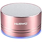 Portable Bluetooth Speakers,NUBWO mini Wireless Outdoor Speakers V4.1,Richer sound and Bass,TF crad slot,3.5mm AUX,Build-in microphone for iphone/Andriod/Tablet(Rose Gold)