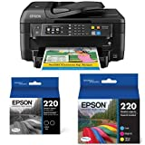 Home and Office Printer - Epson WorkForce WF-2760 All-in-One Wireless Color Printer with Scanner, Copier, Fax, Ethernet, Wi-Fi Direct and NFC + Multipack Ink Bundle