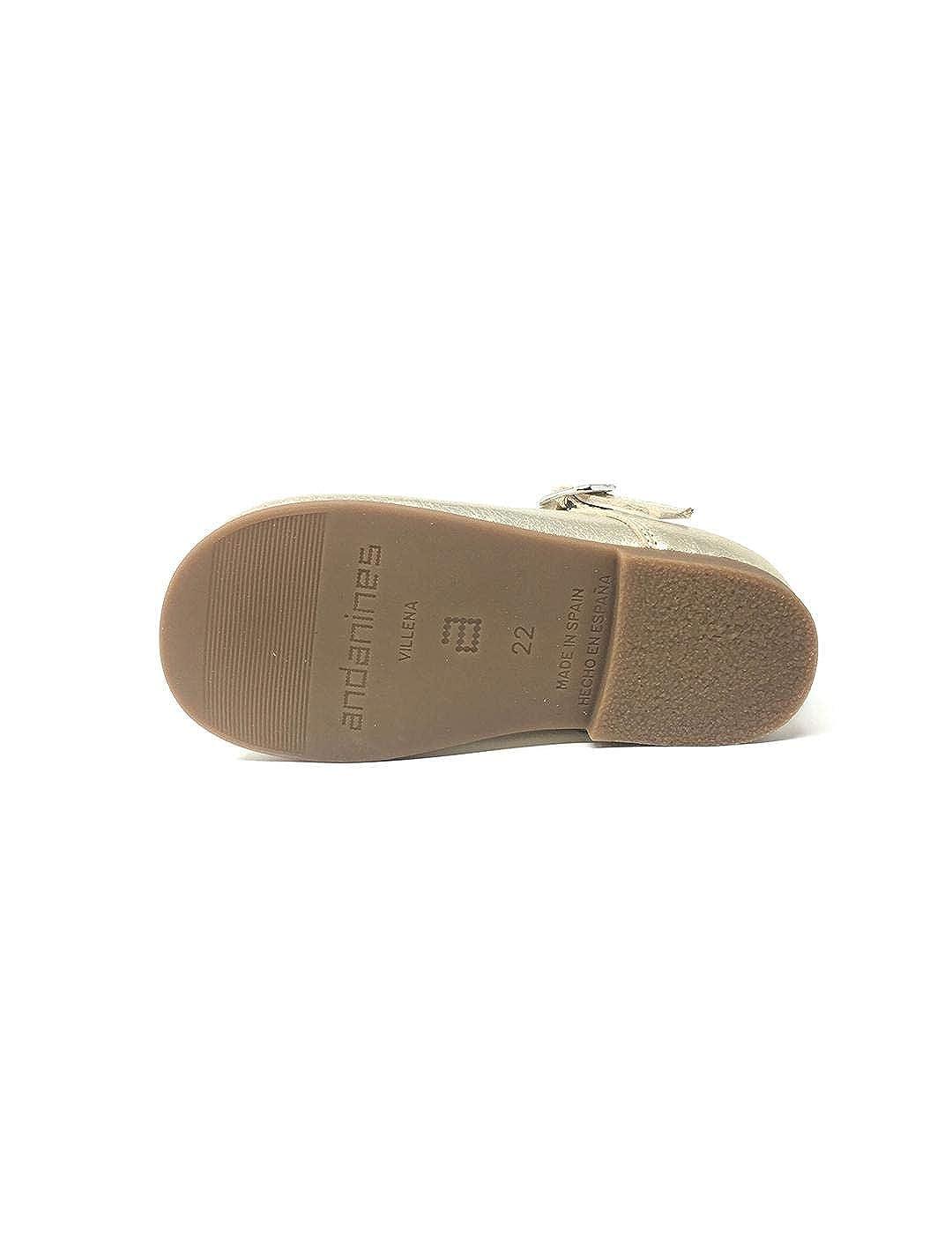 Mercedita Laminado Oro: Amazon.es: Zapatos y complementos