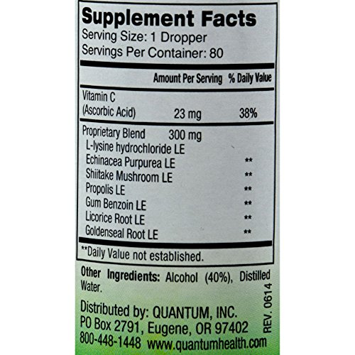 Quantum Super Lysine Plus Liquid Extract 2 fl oz