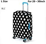 WLC Elastic Spandex Travel Suitcase Protective Cover Creative Printed Luggage Set