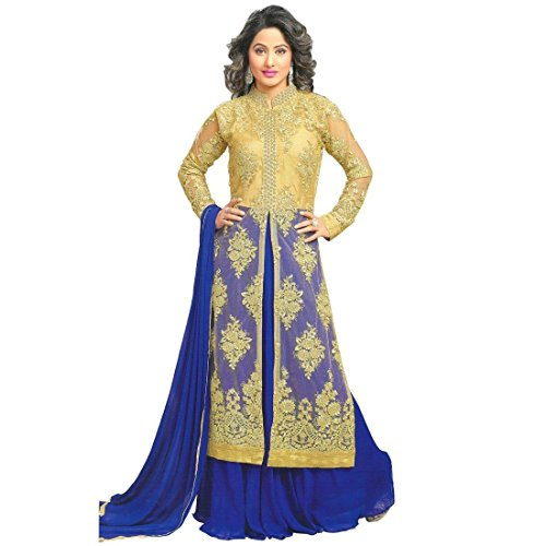 Bollywood Wedding Embroidered Ready made Salwar Kameez Indian – X-Small, Gold
