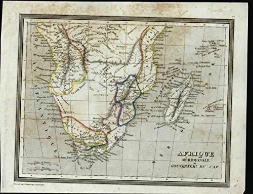 Southern Africa Cape Government c.1840 Fremin antique engraved ()