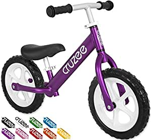 Cruzee UltraLite Balance Bike (4.4 lbs) for Ages 1.5 to 5 Years | Best Sport Push Bicycle for 2, 3, 4 Year Old Boys & Girls– Toddlers & Kids Skip Tricycles on the Lightest First Bike 1 – Purple