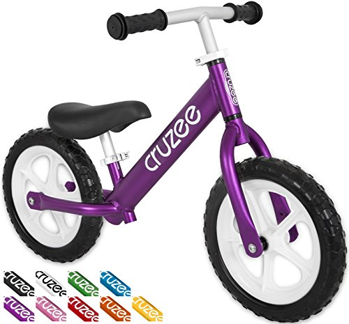 Cruzee Ultralite Balance Bike (4.4 lbs) for Ages 1.5 to 5 Years | Purple– Best Sport Push Bicycle for 2, 3, 4 Year Old Boys & Girls– Toddlers & Kids Skip Tricycles on The Lightest First Bike 1