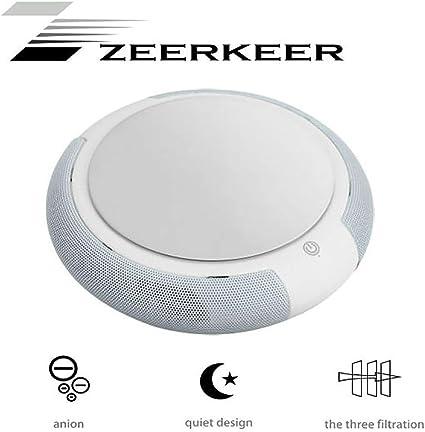 Amazon.es: ZEERKEER Purificador del Aire de Coche con Filtro HEPA ...