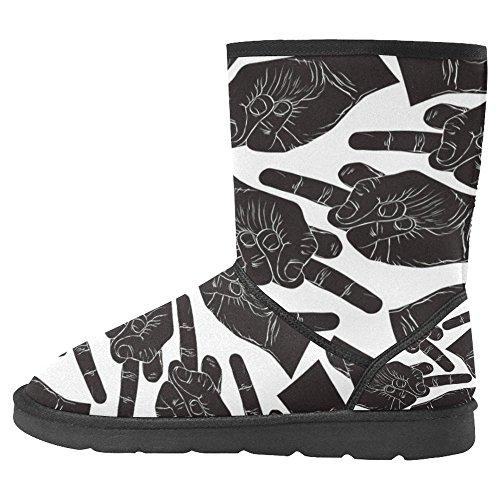 Multi 11 Boots Unique Womens Designed Snow Winter InterestPrint Boots Comfort q80zR4