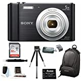 Sony Cyber-shot DSC-W800 DSCW800/B DSCW800B Point and Shoot Digital Still Camera (Black) + Medium Case + Sony 32GB Memory Card + All in One High Speed Card + Reader + Rechargeable Battery + Accessory Kit