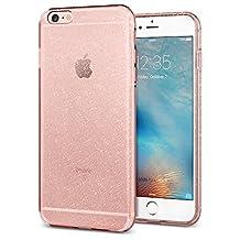 Phone 6S Plus Case / iPhone 6 Plus Case, Spigen Liquid Crystal - Slim Protection Soft Glittering Case for Apple iPhone 6S Plus / iPhone 6 Plus - Glitter Rose Quartz