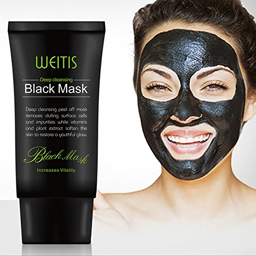 Coohole Gentle Black Mud Deep Cleansing Purifying Peel Off Facail Face Mask (Black)