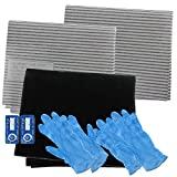 Spares2go Cooker Hood Carbon Grease Filter Complete Kit For...