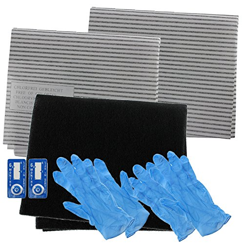 Spares2go Cooker Hood Carbon Grease Filter Complete Kit For Baumatic Kitchen Extractor Fan Vent