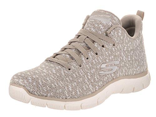 Calzado deportivo para mujer, color Hueso , marca SKECHERS, modelo Calzado Deportivo Para Mujer SKECHERS EMPIRE CONNECTIONS Hueso marr�n
