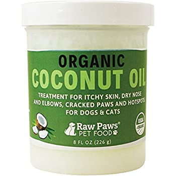 Amazon.com : Raw Paws Organic Coconut Oil Dogs & Cats, 8