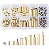 eBoot 180 Pieces Male Female Hex Brass Spacer Standoff Screw Nut Assortment Kit (M3)