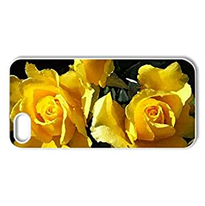 Yellow Roses - Case Cover for iPhone 5 and 5S (Flowers Series, Watercolor style, White)