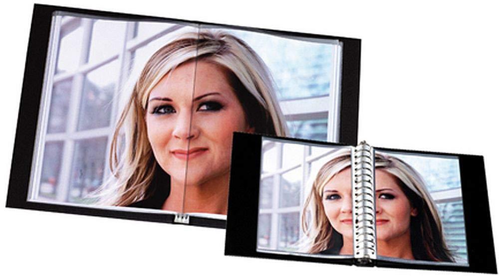 con 36/buste,/nero Rillstab raccoglitore con buste trasparenti in formato A3
