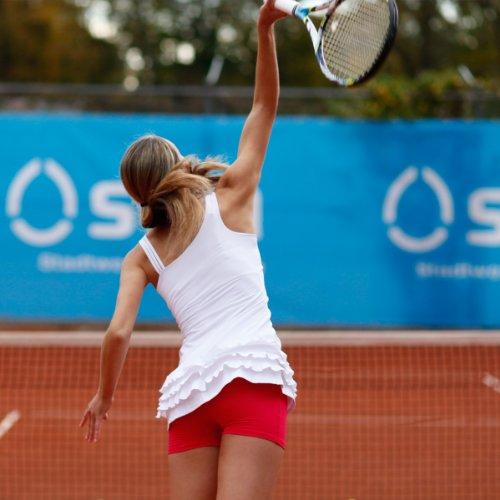 Sportkind Mädchen & Damen Tennis / Volleyball / Sport Shorts, pink, Gr. 152