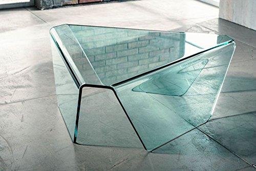 IMAGO FACTORY Tribeca - Mesa de Centro de Cristal Curvado: Amazon ...