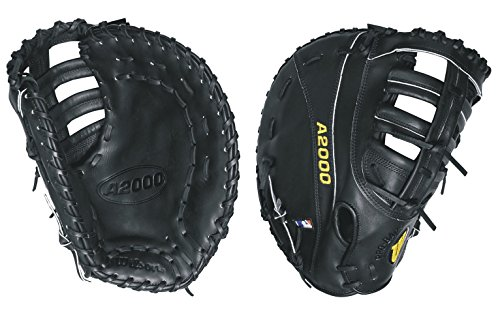 Wilson A2000 PS 1st Base Baseball Glove, Black, Right Hand Throw, - Mitt 1st Baseball Base