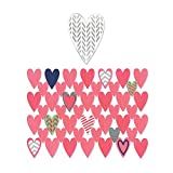 Sizzix Heart Card Front/Layering Shapes Thinlits Dies, 7-Pack