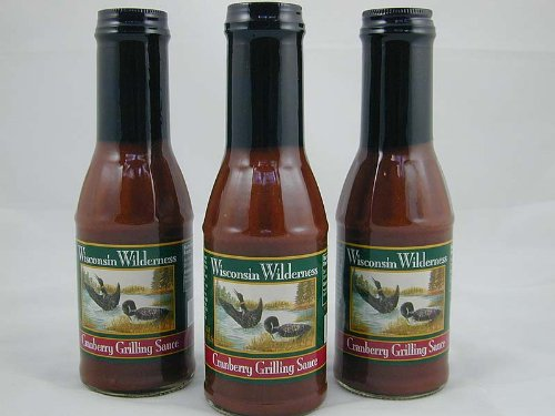 Wisconsin Wilderness Cranberry Grilling Sauce - 3 Jar Set