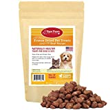 Raw Paws Free-Range Freeze Dried Beef Dog Treats & Cat Treats, 4-oz - Made in USA Raw Freeze Dried Cat Treats - Grass-Fed Cows - Grain, Wheat, Antibiotic-Free Beef Cat Treats - All Natural Pet Snacks