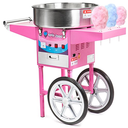 Olde Midway Commercial Quality Cotton Candy Machine Cart and Electric Candy Floss Maker - SPIN 2000 by Olde Midway