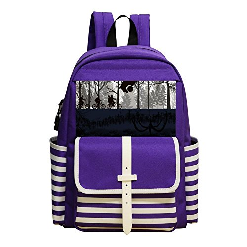 IEUCHEIC Kindergarten And Elementary School Durable Backpack, Boy And Girl Purple Backpack Upside Down ()