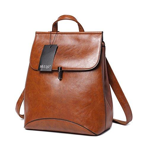 WINK KANGAROO Fashion Shoulder Bag Rucksack PU Leather Women Girls Ladies Backpack Travel bag (brown)