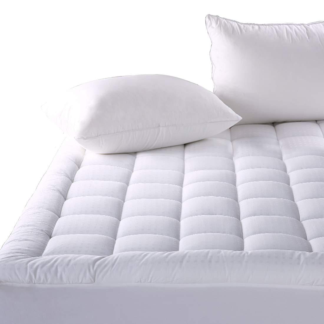 Balichun Mattress Pad Cover Queen Size Pillowtop 300TC Down Alternative Mattress Topper with 8-21-Inch Deep Pocket by Balichun