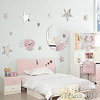 Alrens_DIY(TM)1 pcs Moon+ 12 Pcs Twinkle Stars DIY Mirror...