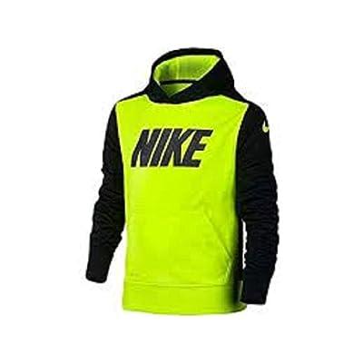 Nike Youth Boys KO Logo Fleece Hoodie Volt/Black