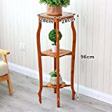 AIDELAI flower rack Bamboo Ya Hui Nan bamboo multi - storey living room floor to spend the antique frame indoor bonsai frame solid wood retro Patio Garden Pergolas ( Size : 282896 )